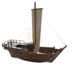 Modell der Bremer Kogge von 1380 - Cog (ship) - Wikipedia, the free encyclopedia