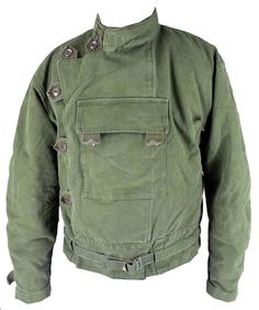 Swedish army dispatch riders motorcycle jacket - pile lined canvas shell. Motorjacka m/60 and Motorbyxa m/60 were made in canvas and in leather.