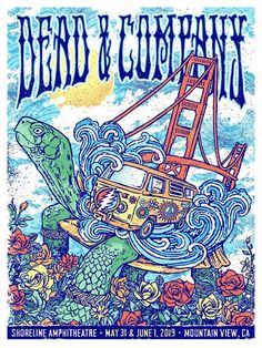 18 x 24 inch 8 Color Silk Screen Poster Signed & Numbered by Gregg Gordon / GIGART Artist copies from the Main Edition of 1700 The Dead & C. Grateful Dead Wallpaper, Grateful Dead Poster, Tour Posters, Band Posters, Music Posters, Dead And Company, Art Graphique, Concert Posters, Charts