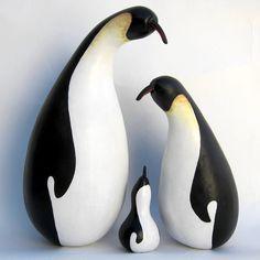 Gourd Penguin Family Figures