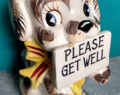 get well dog planter – Etsy