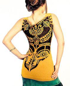 Estampado con diseño azteca