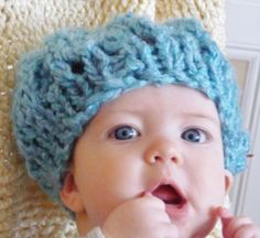 Baby Boy Hat In Blue by lovemyknits on Etsy, $12.00