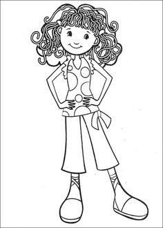 Groovy Girls Målarbilder för barn. Teckningar online till skriv ut. Nº 3