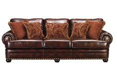 leather look sofa