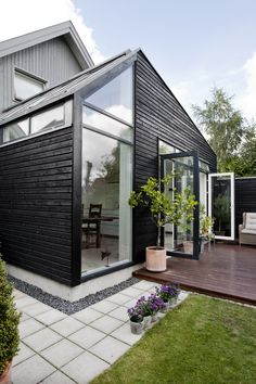 Exterior Shutters For Windows Exterior Rendering, Exterior Design, Interior And Exterior, Exterior Windows, Exterior Stairs, Scandinavian Interior Design, Scandinavian Home, Exterior Wood Paint, Outdoor Spaces