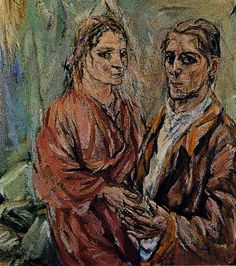 Oskar Kokoschka, Self-Portrait with Alma Mahler, 1912