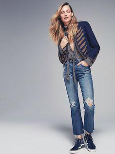 Fray Crop Jeans
