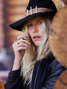 Quartz Banded Hat by Lovely Bird for Free People  at Free People Clothing Boutique
