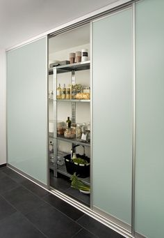 For example, the inova sliding door system focus is also ideal for storing . Kitchen Organization Pantry, Best Closet Organization, Home Room Design, Living Room Designs, Small Apartment Interior, Sliding Door Systems, Luxury Kitchen Design, Basement Bedrooms, Pantry Design