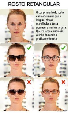eb8052ba4 Como escolher os óculos escuros ideais para seu rosto Formato De Rosto,  Acessórios De Moda