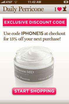 Discount coupon for Dr. Perricone app