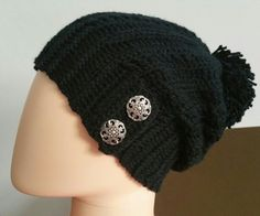 The Cameron Hat ☆Designed by Two Girls Patterns☆ And Crocheted by Manju♡