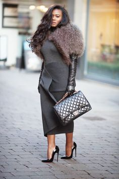 Style is my thing: Gorgeous business outfit with Louboutins