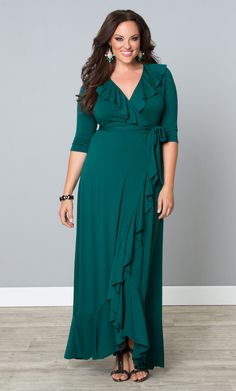 Get our gorgeous plus size Maritime Maxi Dress on sale now!  Browse our entire made in the USA collection online at www.kiyonna.com.  #KiyonnaPlusYou