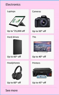 Up to 50% on electronics. Do try!!! #sale #amazon #electronics
