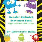 Monster Alphabet Scavenger Hunt I have added a different set of monsters to the product.  You can download again, if you already purchased!  This i...