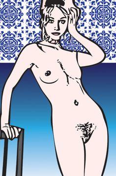 Martinha e os azulejos de São Luis.
