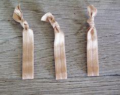 Elastic Hair Ties, Set of 3, Natural Color Ponytail Holders, FOE $5