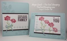Painted Petals: Soft Sky Painted Roses CASEd from Julie Kettlewell.  stampin up, cards  Details at www.toocoolstamping.com