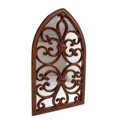 Miroir fenêtre fonte gothique