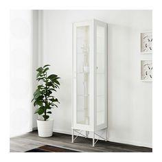 Ikea TOCKARP Hoge kast met vitrinedeur, wit,38x175cm
