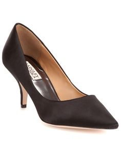 "Badgley Mischka ""Monika II"" Satin Pump is on Rue. Shop it now."
