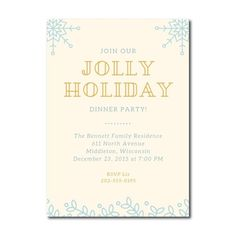Holiday Dinner Party Invitation | 5 x 7"