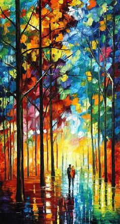 Date in the park — PALETTE KNIFE Oil Painting On Canvas by AfremovArtStudio on Etsy, $299.00