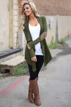 Everyday Casual Cardigan - Olive
