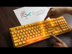 ▶ Ducky Yellow Keyboard - YouTube  Badass keyboard - love the yellow and LED effects - and I hear it's built like a tank!