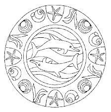 Dolphin Mandala Color Page Dolphins Animal Coloring Pages Plate Sheetprintable Picture
