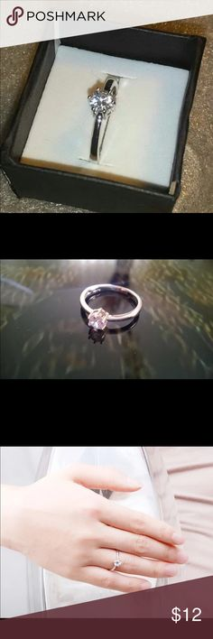White Gold Plated Ring New Arrival  Never Fading 1.2carat 6claws Diamond Rings Women 18K White Gold Plated Engagement  Size 6,7,8,9 Jewelry Rings