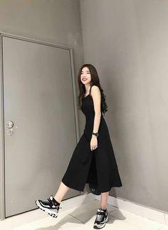 Top korean fashion ideas 1102616631 in 2020 Korean Fashion Dress, Korean Street Fashion, Ulzzang Fashion, Korea Fashion, Korean Outfits, Asian Fashion, Fashion Dresses, Korean Style Dress, Cute Korean Fashion