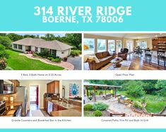 Built In Grill, Texas Hill Country, Ranch Style, Acre, Beautiful Places, Floor Plans, Real Estate, Patio, River