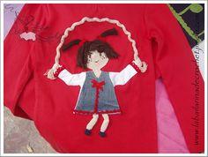 T-Shirt girl Dolly jumping