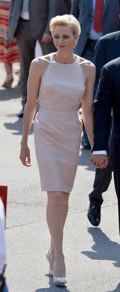 MyRoyals:  Monaco Celebrates the 10th Anniversary of Prince Albert's Accession to the Throne, Day 1, July 11, 2015-Princess Charlene