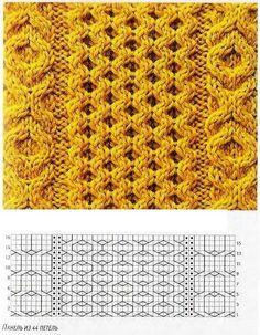 strickmuster na mnogo interesnogo Knitting Stiches, Cable Knitting, Knitting Charts, Crochet Stitches, Hand Knitting, Celtic Patterns, Stitch Patterns, Knitting Patterns, Crochet Patterns