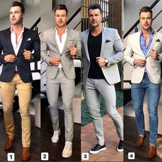 43640 casual wear for men in 2019 moda masculina urbana, m Blazer Outfits Men, Mens Fashion Blazer, Suit Fashion, Fashion Fall, Formal Men Outfit, Casual Wear For Men, Moda Formal, Designer Suits For Men, Look Man