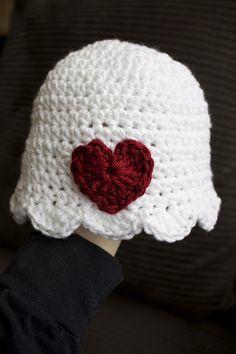 Handmade by Meg K: Crocheted Valentine's Hat