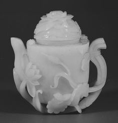 Teapot Date: 18th century Culture: China Medium: Jade Dimensions: H. (with stand) 5 5/8 in. (14.3 cm); W. 4 3/4 in. (12.1 cm) Classification: Jade Credit Line: Alfred W. Hoyt Collection, Bequest of Rosina H. Hoppin, 1965