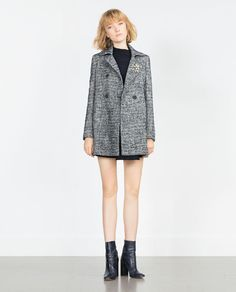 Image 1 of WOOL HERRINGBONE COAT from Zara