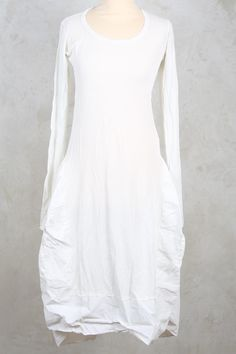 Long Sleeved Dress with Full Skirt in Frozen Pigment - Rundholz Dip