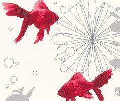 PAPEL PINTADO PARA COCINAS Y BAÑO ORIGINAL LAVABLE RASCH AQUA DECO  Papel pintado super-lavable original con motivos marinos de colores variados