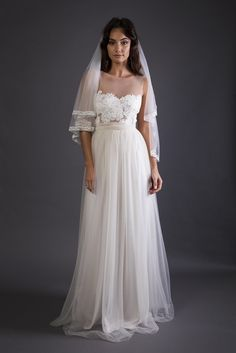 Ideal Dress... with cap sleeves. Loren tulle | Grace Loves Lace