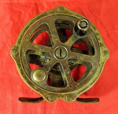 Antique Brass Union Hardware Sunnybrook Single Action Fly Fishing Reel USA #SunnyBrook