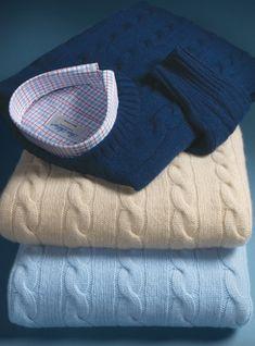 """Glen Oak Scotland Crew Neck pure 3 ply cashmere sweater jumper pullover 50/"""" Blue"""