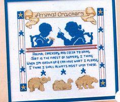 animal cracker cross stitch pattern - Google Search