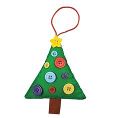 Button Christmas Tree Ornament Craft Kit - OrientalTrading.com