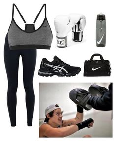"""Boxing training with Harry"" by prettyirwin-xx ❤ liked on Polyvore featuring moda, NIKE, Everlast, Asics, women's clothing, women, female, woman, misses y juniors"